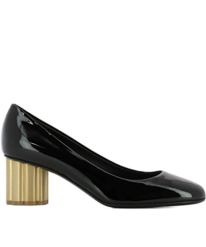Talons À Cuir Femme Ferragamo Salvatore 0672733 Chaussures Noir Pg0cOqH
