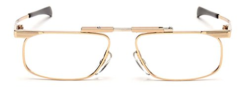 Japan Slimfold Model - SlimFold Reading Glasses by Kanda of Japan Model 3 Color Gold Strength +2.50