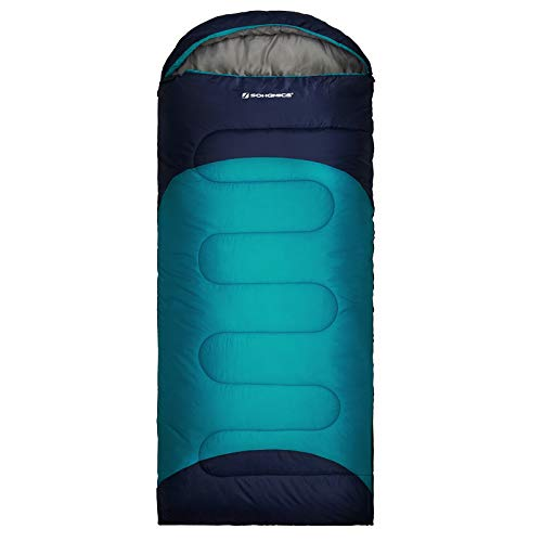 SONGMICS Sleeping Bag Lightweight for Backpacking Camping, Warm and Cold Weather