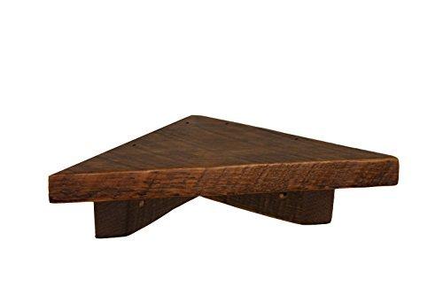 12″ Rustic Reclaimed, Floating Wood Corner Shelf, Pine, Antique, speakers For Sale