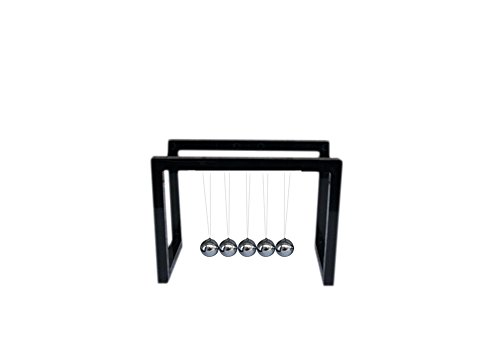 Lkous Newtons Cradle Balance Balls Physics Pendulum Science Desk Office Classic Toy (Black)