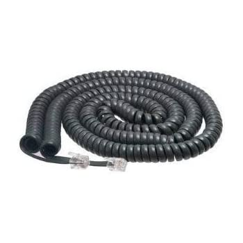 Belkin Coiled Curly Telephone Handset Cable 25ft Black for Cisco Phone Handsets