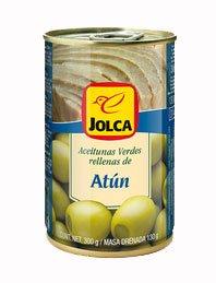 Green Olives Stuffed with Tuna / Aceitunas Españolas Verdes Rellenas de Atun 4.6oz 4 Pack