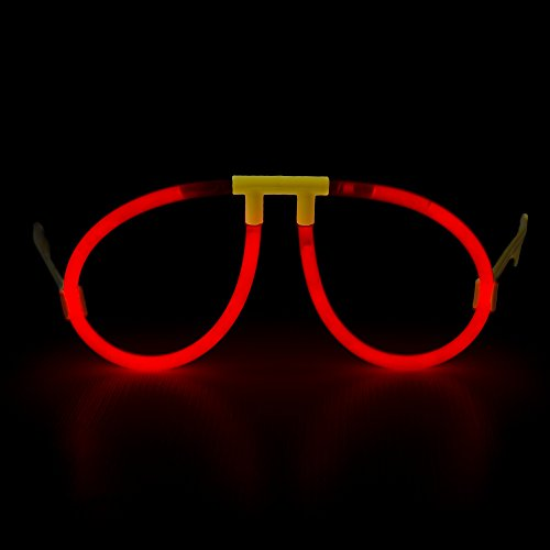 Fun Central G709 Glow Stick Eye Glasses - Assorted Colors 6ct