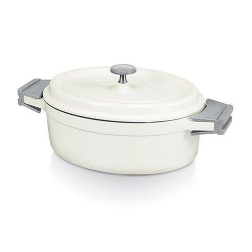 Beka 13392274 Cook On Cocotte ovale Couvercle en fonte daluminium ivoire 26 cm