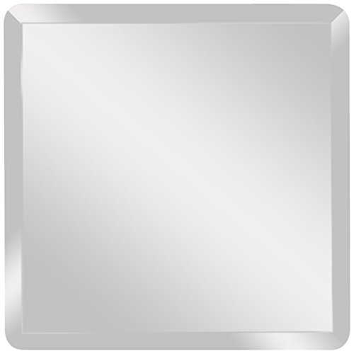 Spancraft Glass Square Beveled Mirror, 24