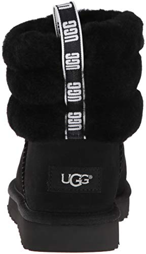 Black UGG W 11 Quilted Mini US Boot Fashion M Fluff Women's 01wrq0