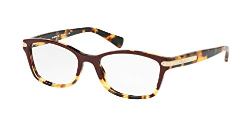 - Coach Women's HC6065 Eyeglasses Burgundy Tortoise/Tortoise 51mm