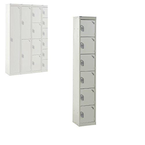 Zilt Tower Frame.Metal Lockers 6 Compartment Express Steel Storage Locker