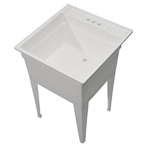 Essential Laundry Sink (CASHEL Heavy Duty Free-Standing Utility Sink - Essential Sink Kit, 1960-20-01, White)