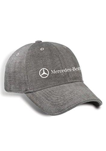 Genuine Mercedes Benz Grey Spandex Tweed Baseball Cap Hat