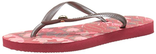 Havaianas Women's Slim Flip Flop Sandals, Royal Print,Red,41