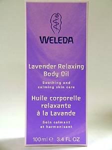 Relaxing Shower Oil - Lavender Body Oil Weleda 3.4 oz Oil