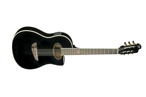 EKO Guitars 06217039 NXT Series Acoustic-Electric Classical Guitar, Black by EKO Guitars
