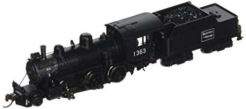 Bachmann Industries ALCO 2-6-0 Boston and Maine 1363 Steam Locomotive Car -  51756