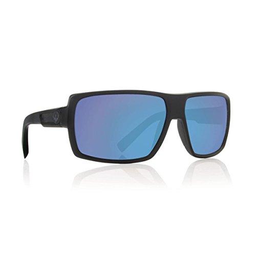 Dragon Alliance Unisex-Adult's Double Dos Sunglasses (Matte Black/Blue Ion Lens, One Size)