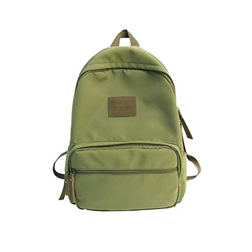 - CCFAMILY Fashion Women Nylon Solid Color Capacity Student Backpack Travel Couple Bag