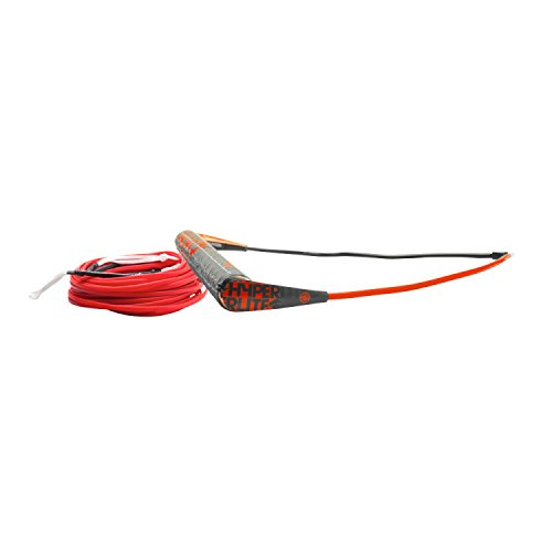 Hyperlite Team Handle with X-Line Rope for Waterski Boat Red, Orange, Blue, Green, Yellow ML