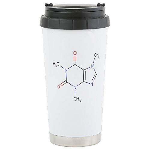 CafePress Caffeine Molecule Stainless Steel Travel Mug, Insulated 16 oz. Coffee - Caffeine Molecule Mug