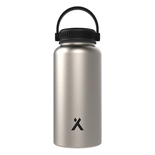 Silver Powder Coated Bottle - Bear Grylls Triple Wall Vacuum Insulated Water Bottle for 12 Hours Hot | 24 Hours Cold, BPA Free
