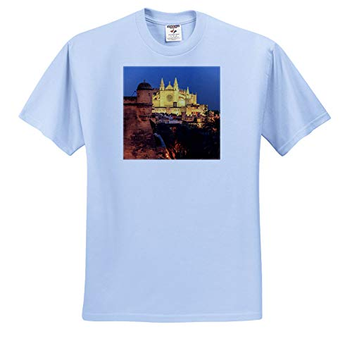 3dRose Danita Delimont - Spain - Spain, Mallorca, Palma de Mallorca. La Seu, Gothic Cathedral. - Toddler Light-Blue-T-Shirt (2T) - Three Mallorca Light