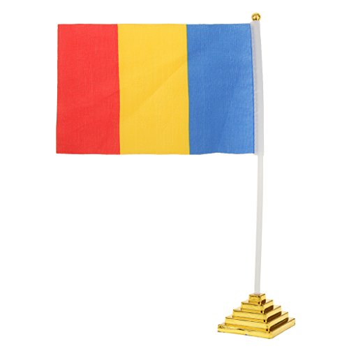 United States Desk Top Table National Country Flag 14 x 21cm - Romania