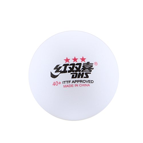 Double Happiness Balls (DHS NEW MATERIAL CELL-FREE 40+ SEAM ITTF APPROVED Table Tennis Ping Pong Balls - 3 Star for Competition)