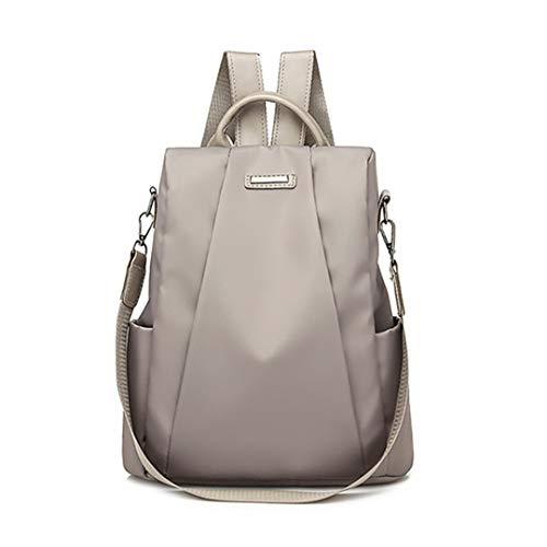 (Anti-Theft Oxford Backpack Female School Bags For Teenager Girl Waterproof Travel Backpack Khaki)