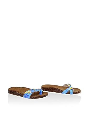 SUMMERY DONNA 213_GIRASOLE_AZZURRO altri materiali sandalo basso