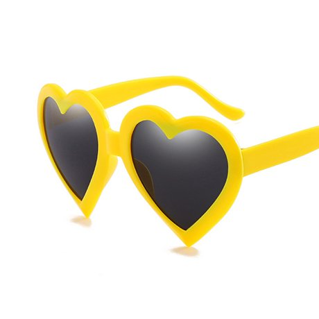 Gafas Rosa Rosa Love Negro Heart Gift para de de Shape Vintage Yellow sol Eye Mujeres Gafas Red sol Heart GGSSYY mujeres wExHw