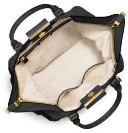 6ff59bf9c826 Michael Kors Collection Lexi Large Sueded Snakeskin Satchel Black Handbag  New  Handbags  Amazon.com