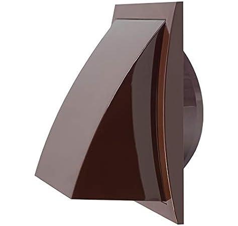 Haeusler-Shop - Rejilla de ventilación con válvula antirretorno (plástico, 150 x 150 mm, 100 mm de diámetro), color marrón: Amazon.es: Bricolaje y herramientas