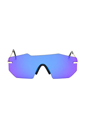 Gafas De UV400 Gafas Polarizadas Metal Hombres De Sol Marco Azul Vintage OwqdTx4xA