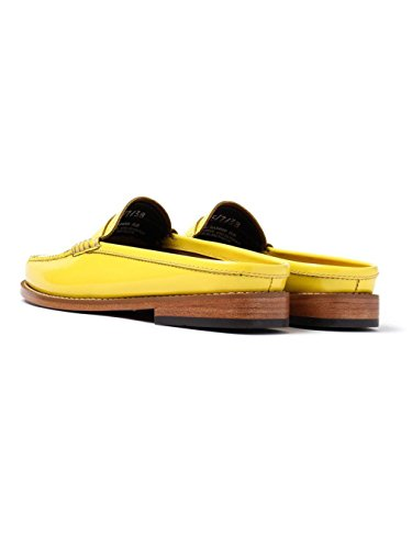 Weejuns Patent Leather Yellow Lemon UK4 Slide Bass Penny Loafers G H Women's Wheel zqCnSw