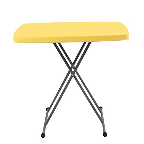 Wotryit 30 by 20 Inches Height Adjustable Inches Folding Personal Tables Yellow Plastic, People with Different Heights.