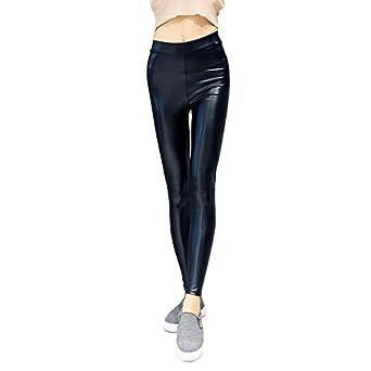 ed51de0420936 THWS Women's Leggings Thin Section Plush Hip Slim Leather Pants,Thina,XL