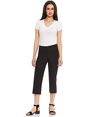 Leveret Women's Pull on Comfort Fit Dress Capri Pants (Size 4-18)