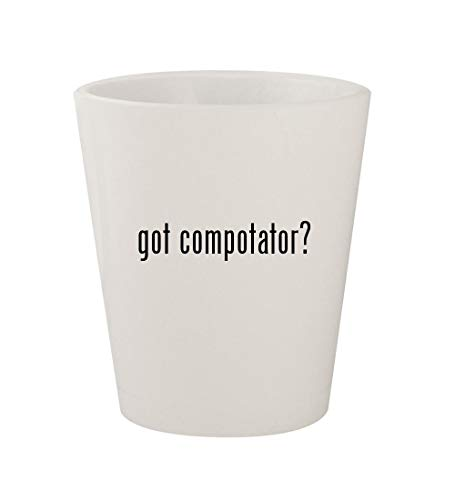 got compotator? - Ceramic White 1.5oz Shot Glass