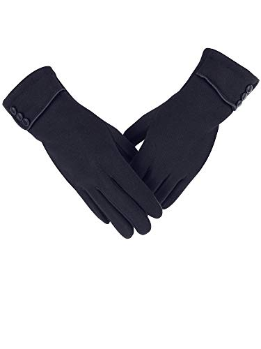 LINEBA Winter Touch Screen Gloves Thick Fleece Lined Warm Windproof Texting Phone Driving Mittens