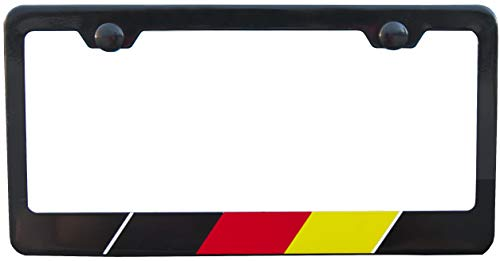 International Tie German Black License Plate Frame High-grade 304 Stainless Steel