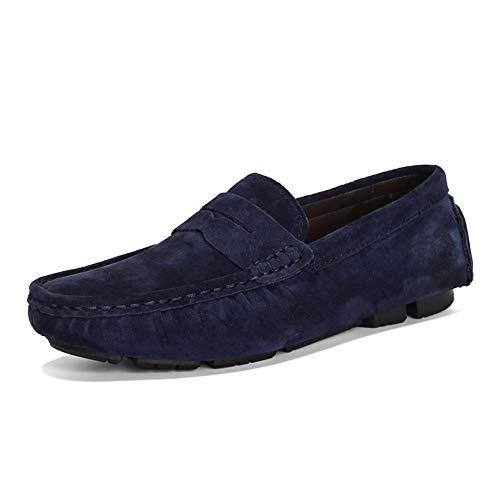Xiaojuan-shoes, Männer und Frauen Casual Drive Loafers Bögen Sind Atmungsaktiv und komfortabel Boot Mokassins, (Color : Blau, Größe : 46 EU) Blau