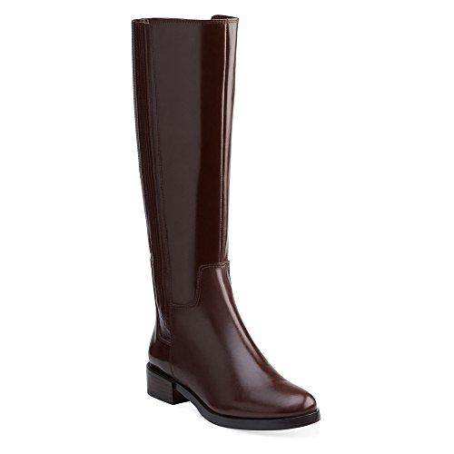 Clarks Womens Marquette Silk Boots Dark Brown Leather