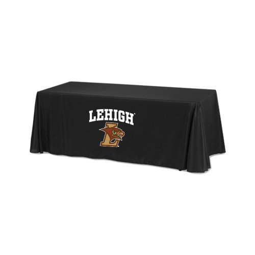 Lehigh Black 6 foot Table Throw 'Official Logo' by CollegeFanGear