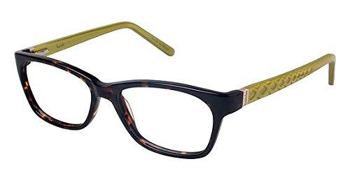 Nicole Miller Balanchine Eyeglass Frames - Frame TORTOISE/LIME, Size 53/15mm