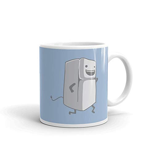 Refrigerator Running Mug 11 Oz White Funny Design Cup Gift Ideas For Tea Coffee Lover