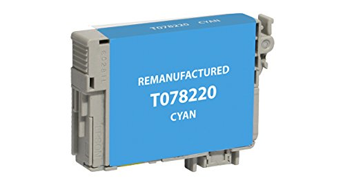 Recreated Cartridges Epson T078220   Cyan Inkjet Cartridge 430 Pages for Epson Stylus R260, R280, R380, RX580, RX595, (T078220 Cyan Inkjet)