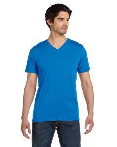 Bella Canvas Unisex Jersey Short-Sleeve V-Neck T-Shirt - NEON BLUE - L