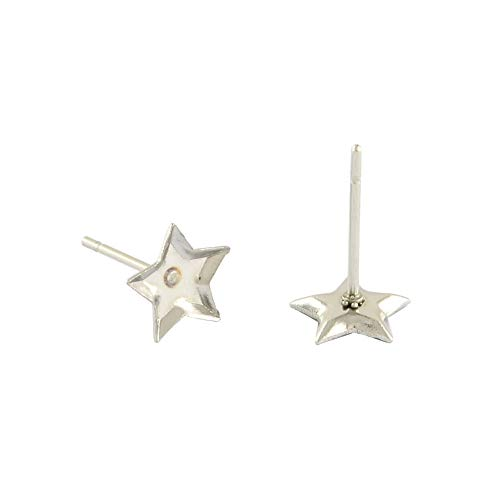 (ARRICRAFT 200pcs Stainless Steel Ear Stud Star Blank Components Earring Cabochon Ear Studs Findings for Earring Designs, Tray:)