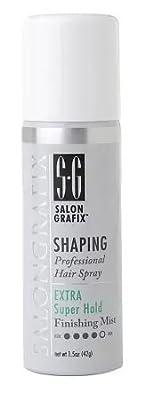 Salon Grafix Shaping Hair Spray Finishing Mist, Extra Super Hold, Travel Size1.5 oz (42 g)(PACK OF 2)