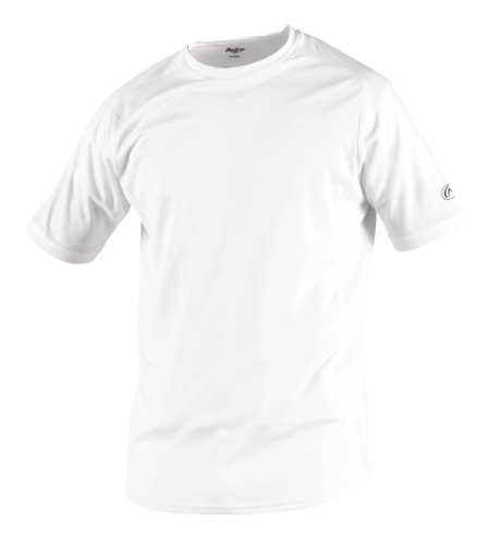 Rawlings Pro Mesh - Rawlings Men's Short Sleeve Baselayer Shirt, White, XX-Large